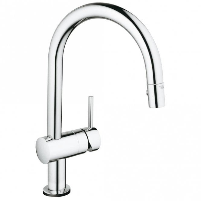Grohe Minta Touch Electronic Chrome High Spout Pullout Kitchen Sink