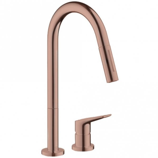 Hansgrohe Axor Citterio M Brushed Redgold Single Lever Kitchen Mixer