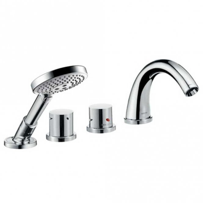 Hansgrohe Axor Starck Chrome 4 Hole Tile Mounted Thermostatic Bath Shower Mixer Tap