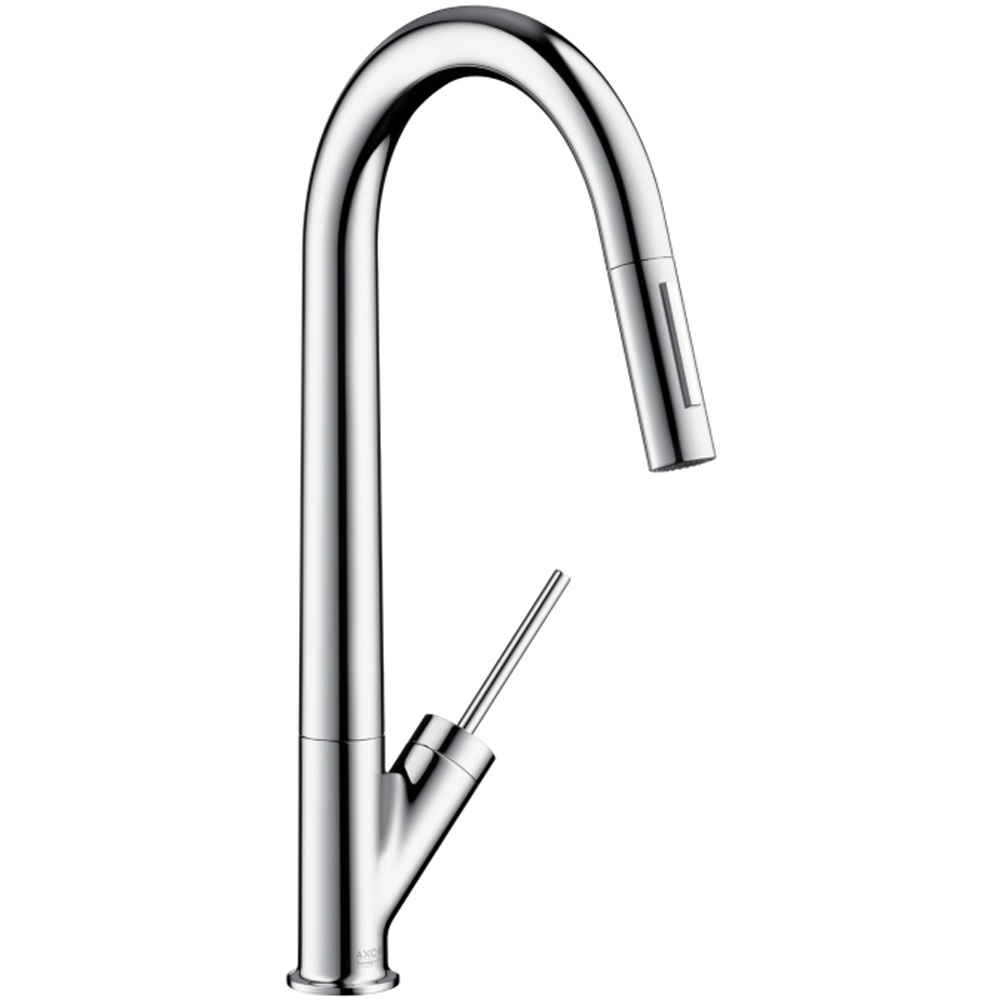 Hansgrohe Axor Starck Chrome Single Lever Pullout Spray Kitchen Sink ...