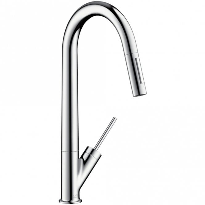 hansgrohe axor starck stainless steel optic single lever pullout