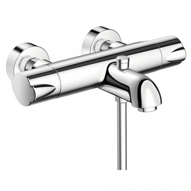 Hansgrohe Ecostat Thermostatic Wall-Mounted Bath Shower Mixer Tap ...
