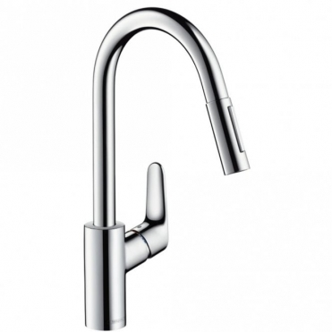 Hansgrohe Focus Chrome Single Lever Pullout Spray Kitchen Sink Mixer Tap 31815000