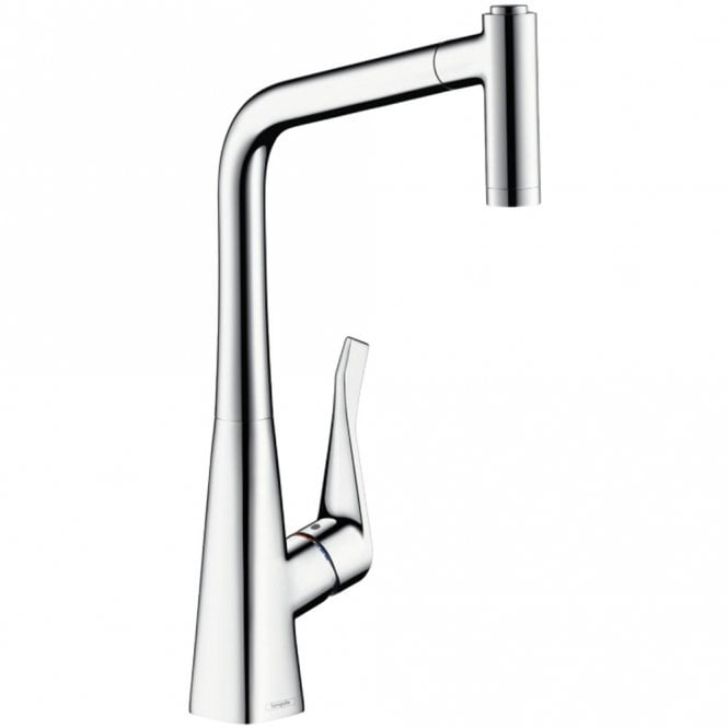 Hansgrohe Metris Stainless Steel Optic Single Lever Pullout Kitchen