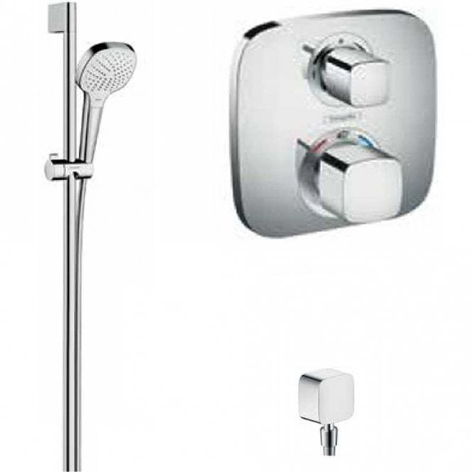 Gut bekannt Hansgrohe System 2 Croma Select E Chrome Thermostatic Shower Kit DH66