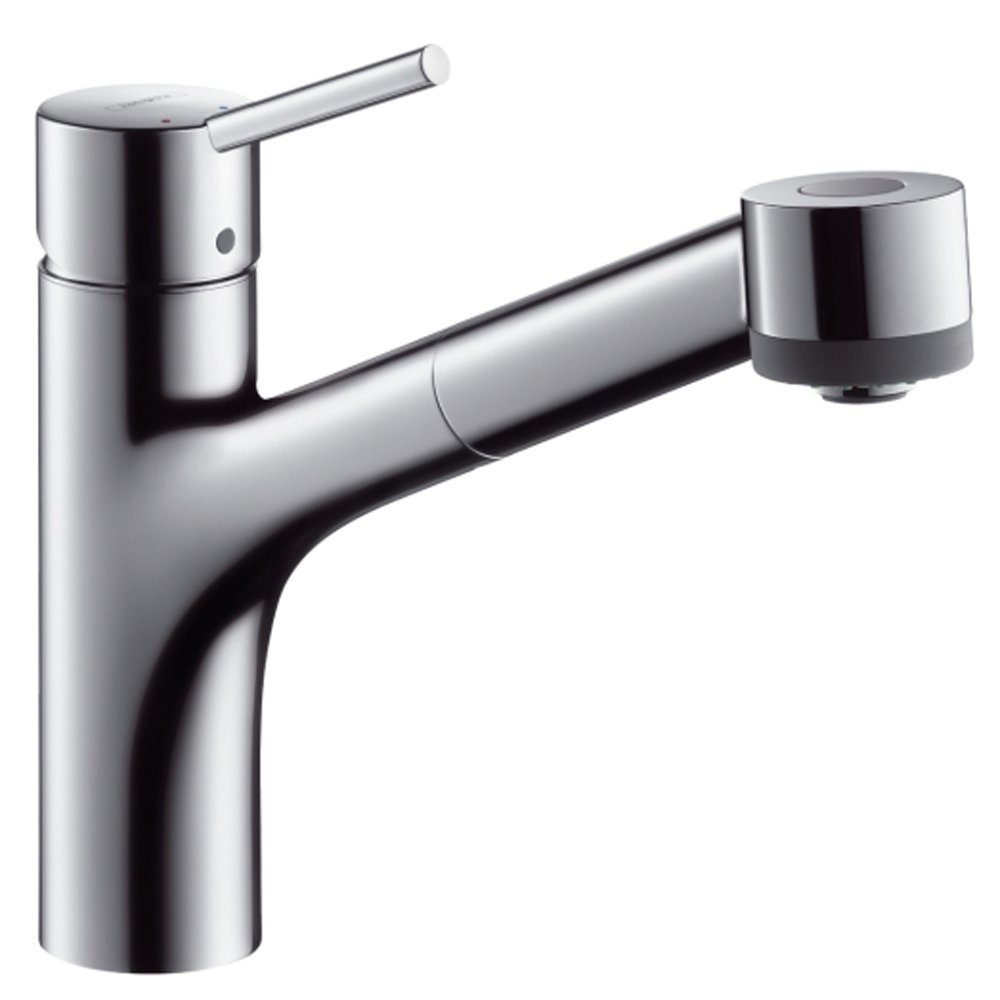 Hansgrohe Talis S Chrome Single Lever Pullout Spray Kitchen Sink - Kitchen sink taps uk