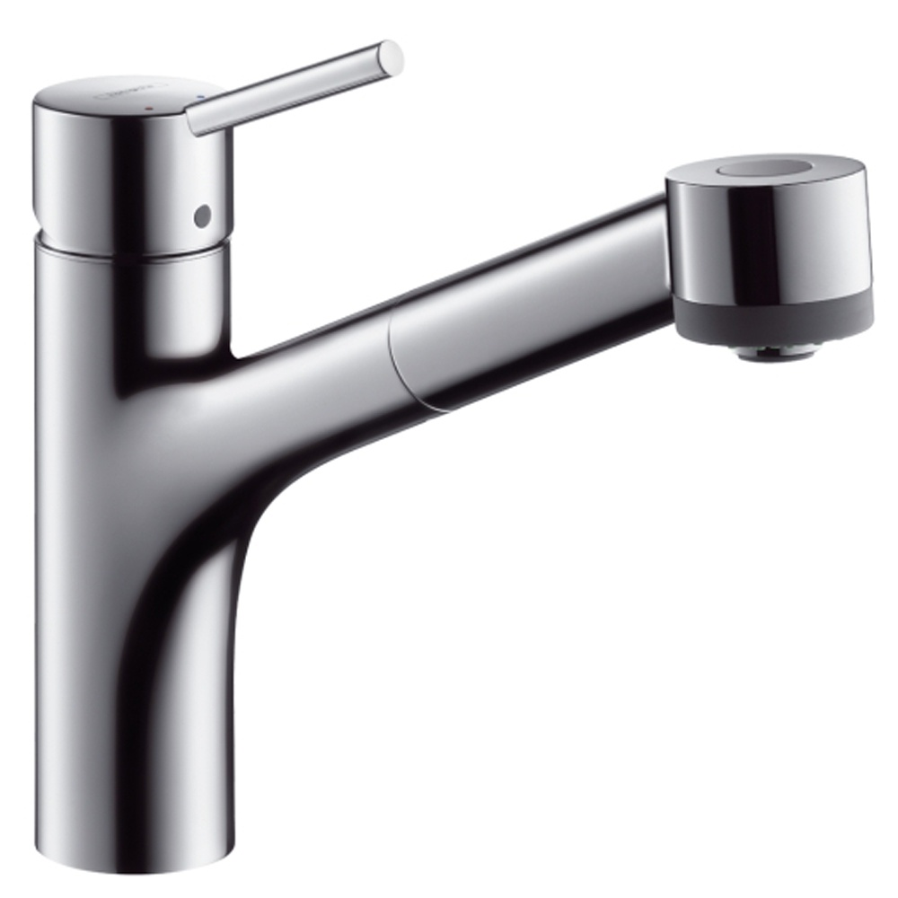 Hansgrohe Talis S Chrome Single Lever Pullout Spray Kitchen Sink ...