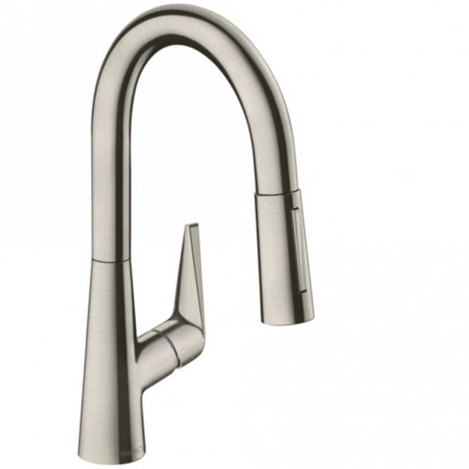 Hansgrohe Talis S Stainless Steel Optic Single Lever Pull Out