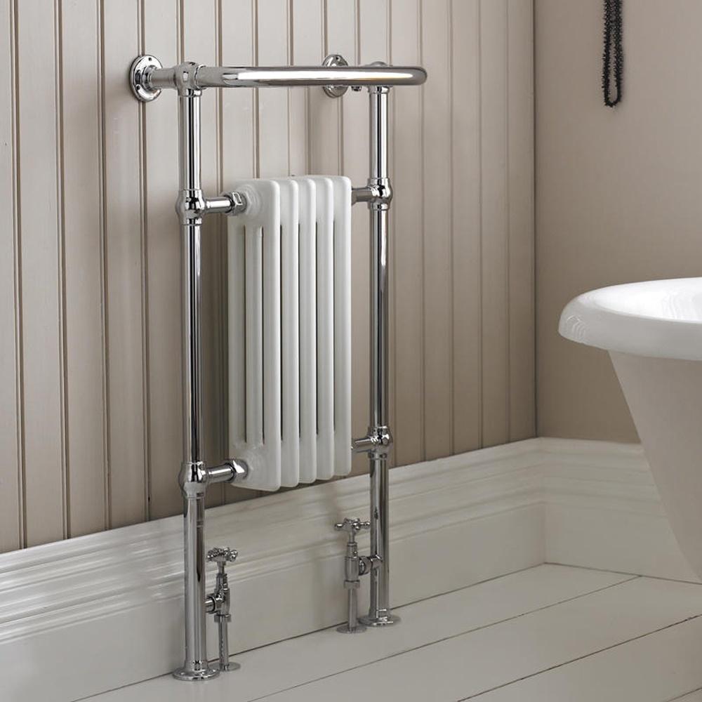 Harrow traditional chrome heated towel rail radiator 965mm