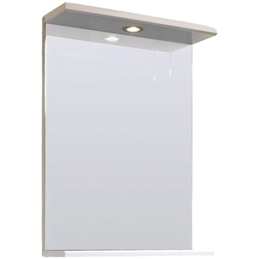 high gloss white 450mm mirror cabinet none from taps uk