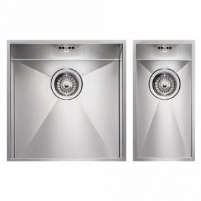 Hotpoint 1.5 Bowl Stainless Steel Reversible Undermount Kitchen Sink & Waste