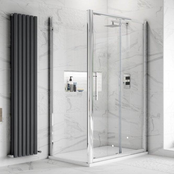 Hudson Reed Apex Sliding Door Shower Enclosure 1100x1000 8mm