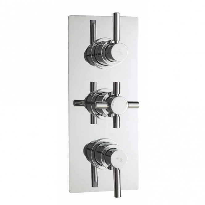 Hudson Reed Chrome Tec Pura Triple Thermostatic Shower Valve With