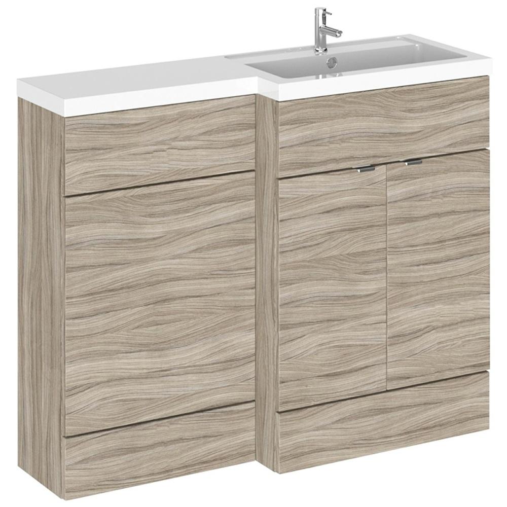 Hudson Reed Fusion Driftwood 1100mm RH Basin & WC Combination Unit ...
