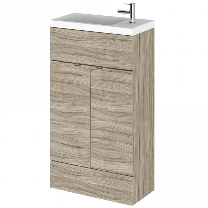 small vanity unit with sink. Hudson Reed Fusion Driftwood 500mm Compact Vanity Unit  Basin CBI222