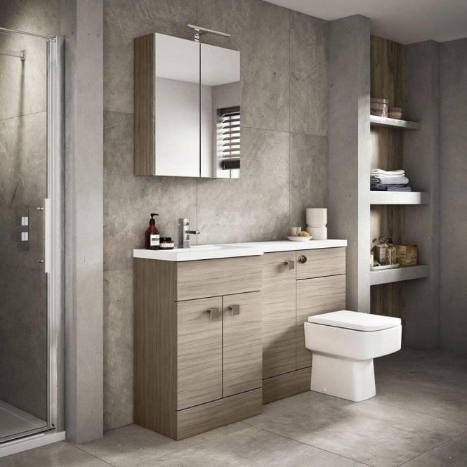 L Shape 1500mm Bathroom Furniture