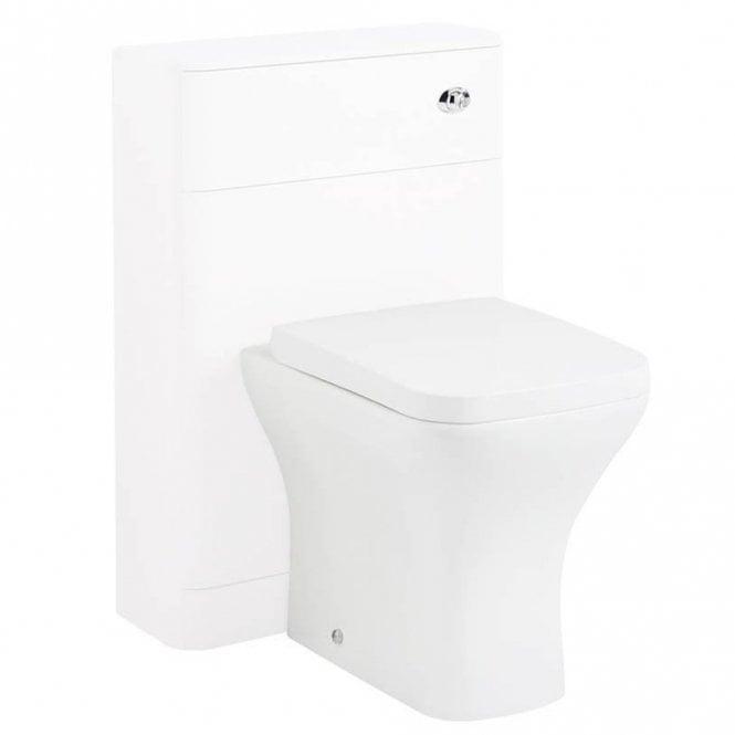 Modern Bathroom WC Unit with Handle White 550mm Hudson Reed FMB1742 Sarenna