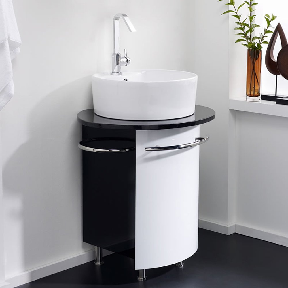 hudson reed sphere black and white basin cabinet lf217