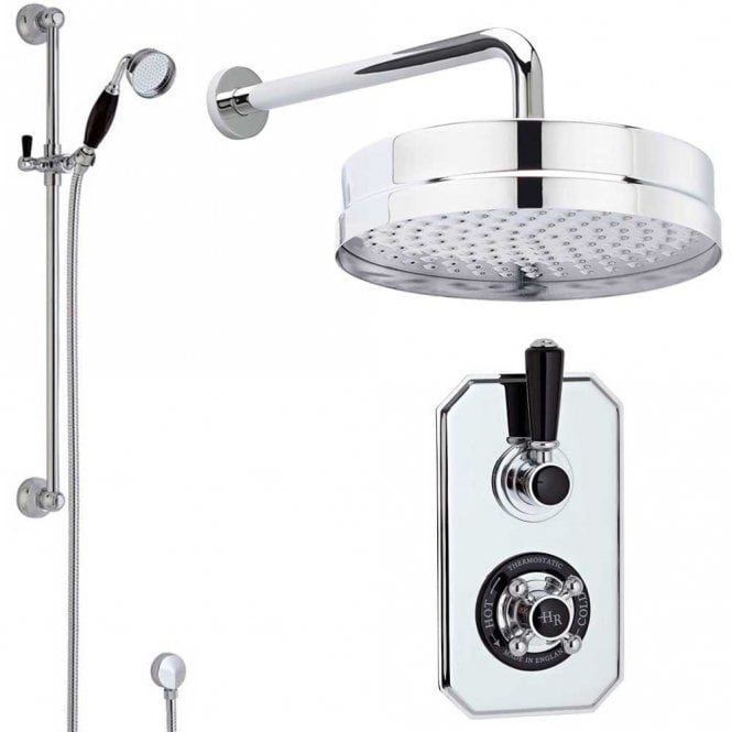 Hudson Reed Topaz Thermostatic Shower Valve 200mm Fixed Head