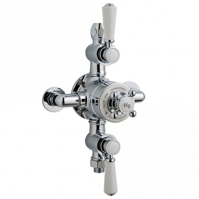 Hudson Reed White Topaz Triple Thermostatic Shower Valve Tsvt102