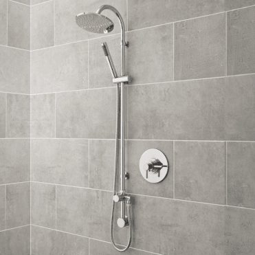 None Inglis Concealed Round Chrome Thermostatic Shower and Spray