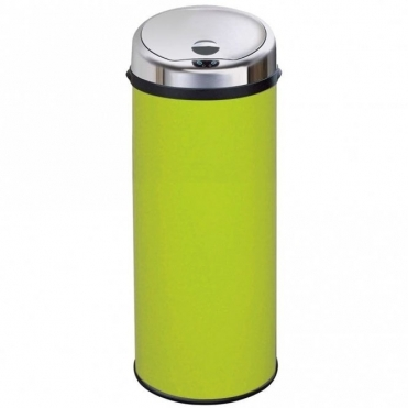 Inmotion 50L Lime Green Stainless Steel Auto Automatic Sensor Kitchen Waste Dust Bin