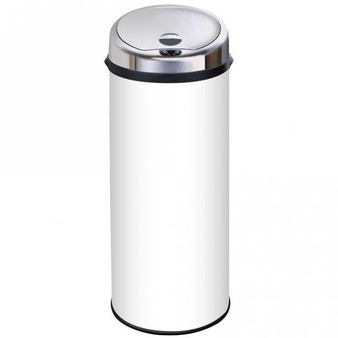 Inmotion 50l White Stainless Steel Auto Automatic Sensor Kitchen Waste Dust Bin