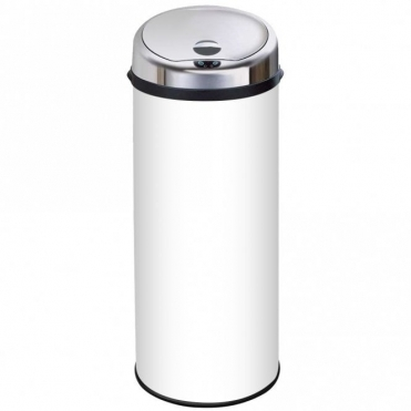 Inmotion 50L White Stainless Steel Auto Automatic Sensor Kitchen Waste Dust Bin