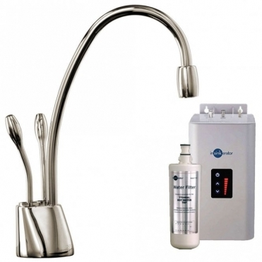 Insinkerator ISE Brushed Steel Steaming Hot & Cold Kitchen Kettle Tap & Tank HC1100BS