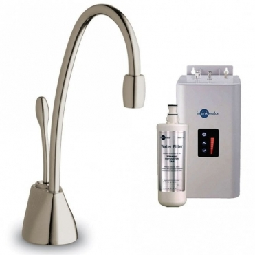 Insinkerator ISE Brushed Steel Steaming Hot Kitchen Sink Kettle Tap & Tank GN1100BS