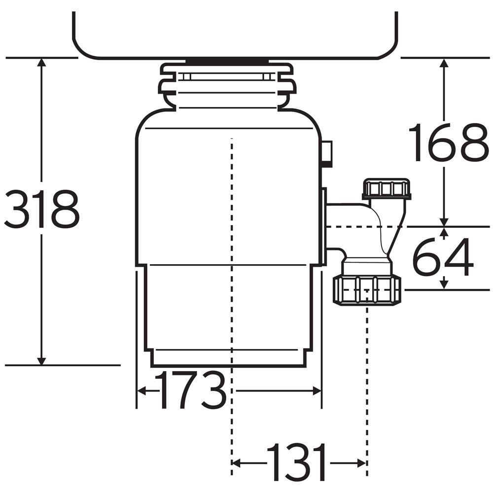 insinkerator ise model 56 kitchen sink waste disposal unit - Kitchen Sink Erator