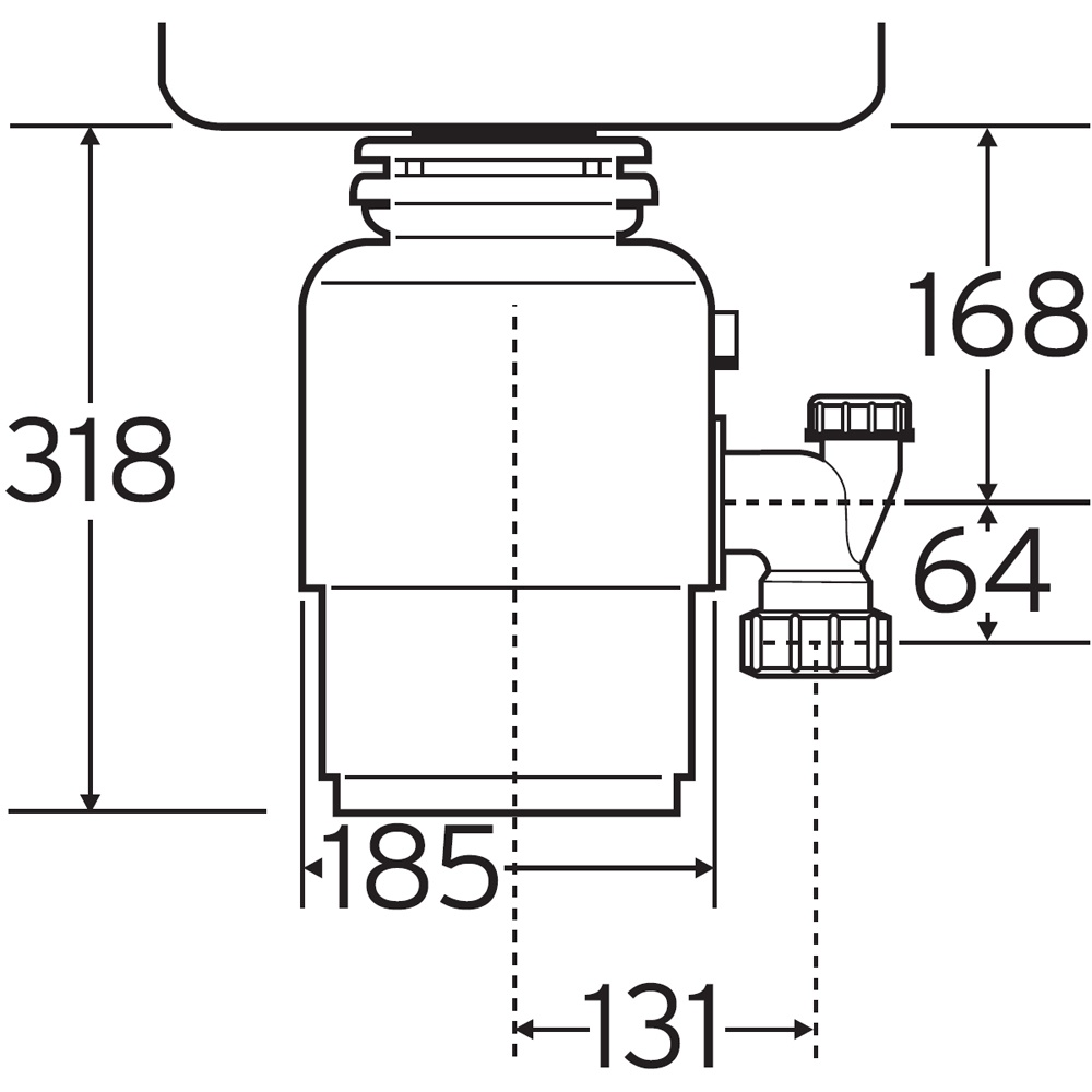 insinkerator ise model 66 kitchen sink waste disposal unit p25967 127878 image