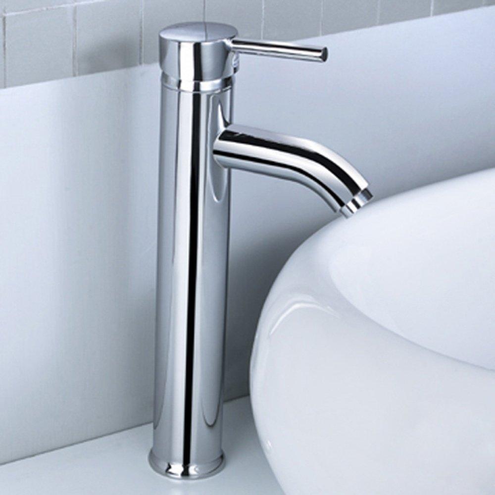 Kadaya Tall Monobloc Bathroom Basin Mixer Tap T3006B