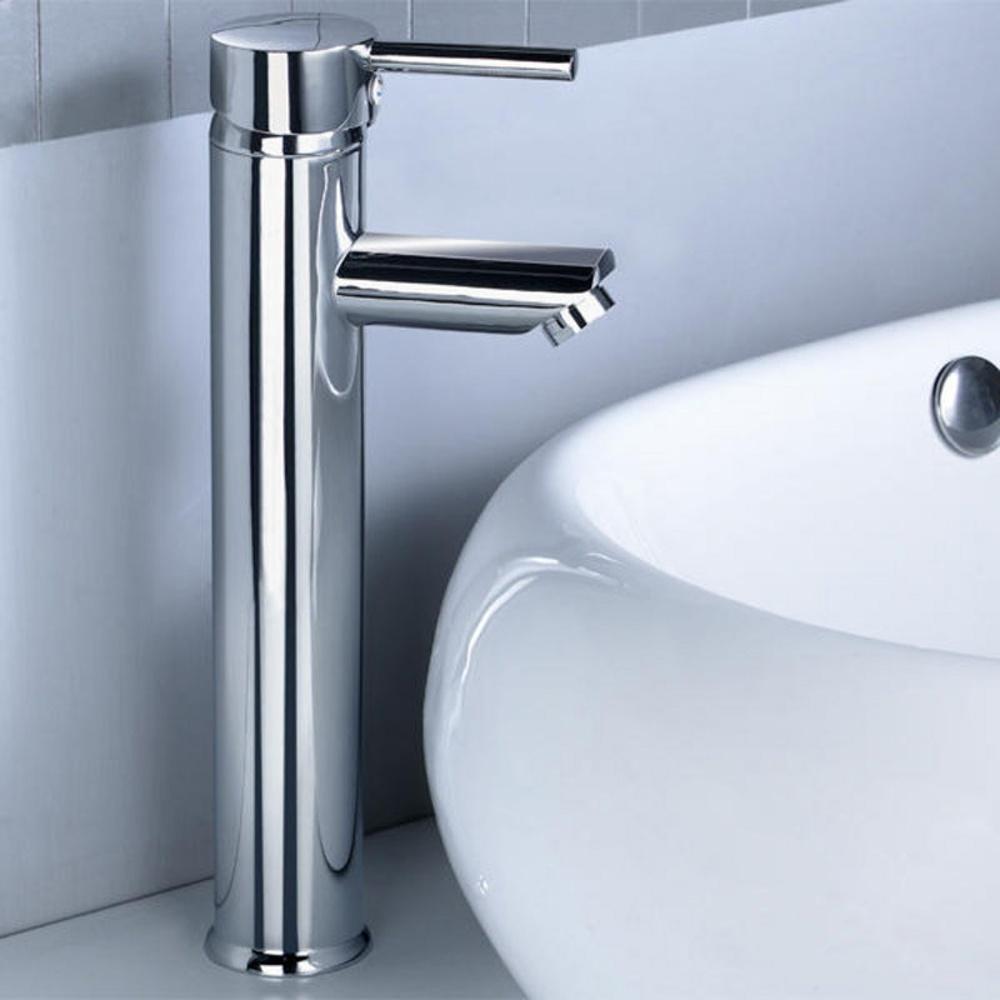 Kadaya Tall Monobloc Bathroom Basin Mixer Tap T3006F
