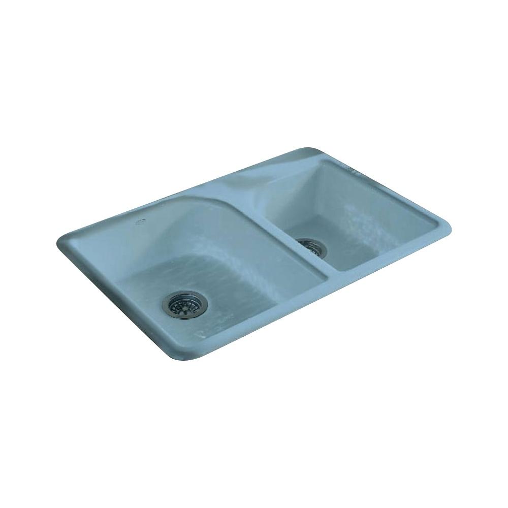 Kohler Efficiency 1 75 Bowl White Cast Iron Kitchen Sink