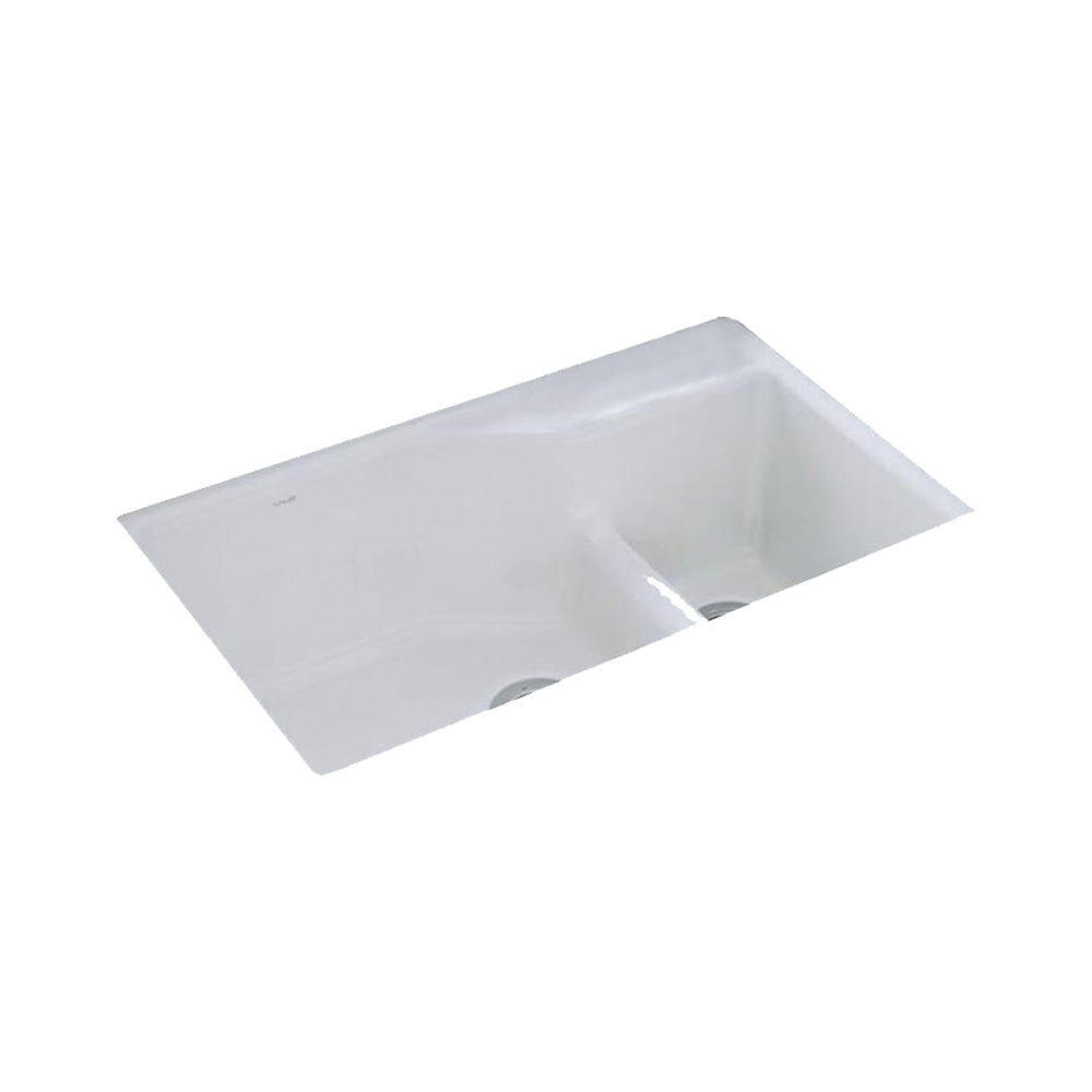 White Cast Iron Kitchen Sink Full Size Of Bathroom:double Bowl Cast ...