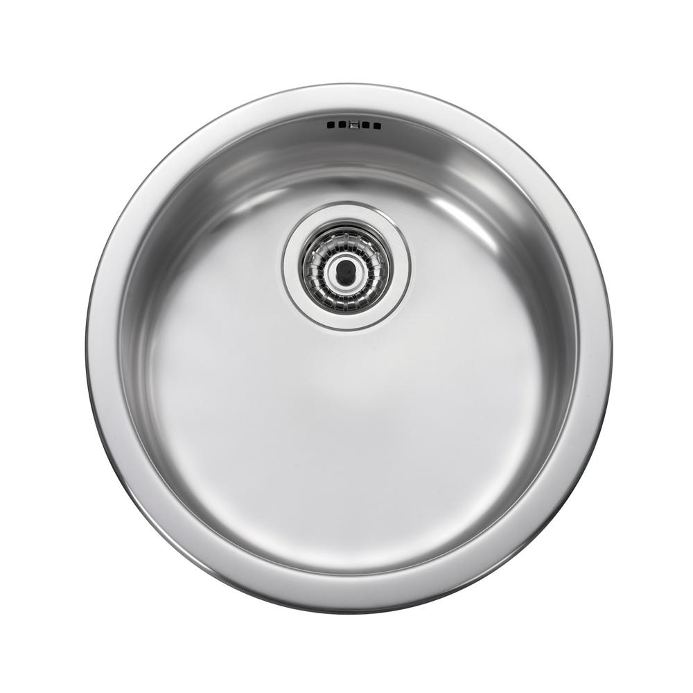Leisure 1 0 Single Bowl Round Stainless Steel Kitchen Sink Waste