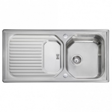 Leisure Sinks Leisure Aqualine 1.0 Bowl Polished Stainless Steel Kitchen Sink