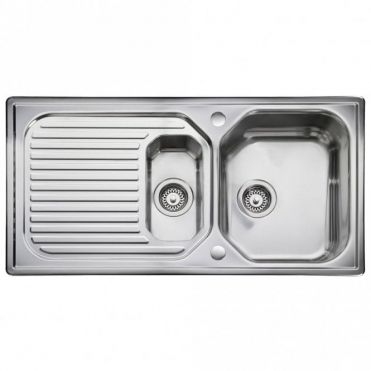 Leisure Sinks Leisure Aqualine 1.5 Bowl Polished Stainless Steel Kitchen Sink