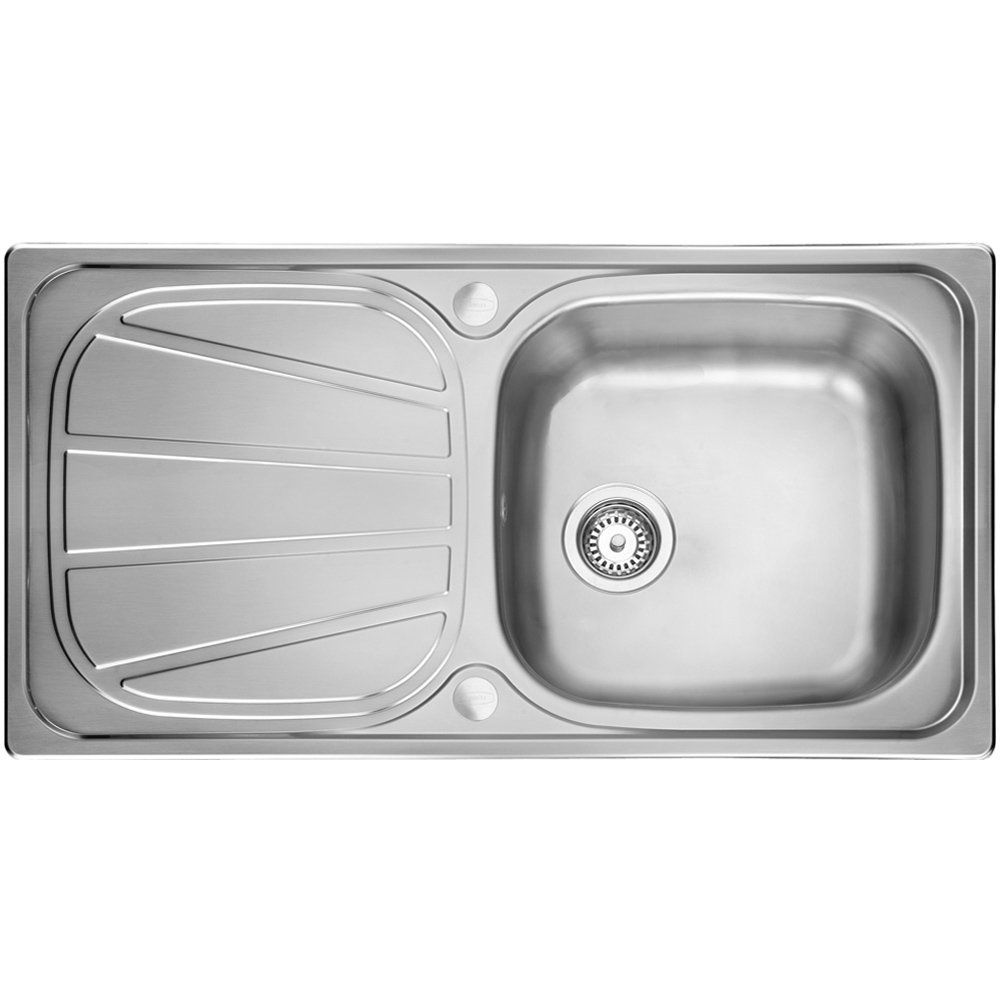 leisure contour 10 bowl polished stainless steel kitchen sink waste cn950 p15931 124166 zoom