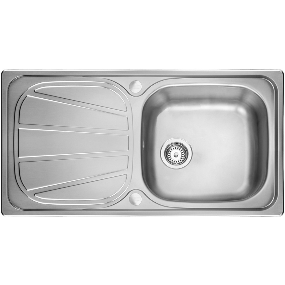 Leisure Contour 1.0 Bowl Reversible Polished Stainless Steel Kitchen ...