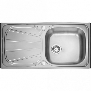 Leisure Sinks Leisure Contour 1.0 Bowl Reversible Polished Stainless Steel Kitchen Sink