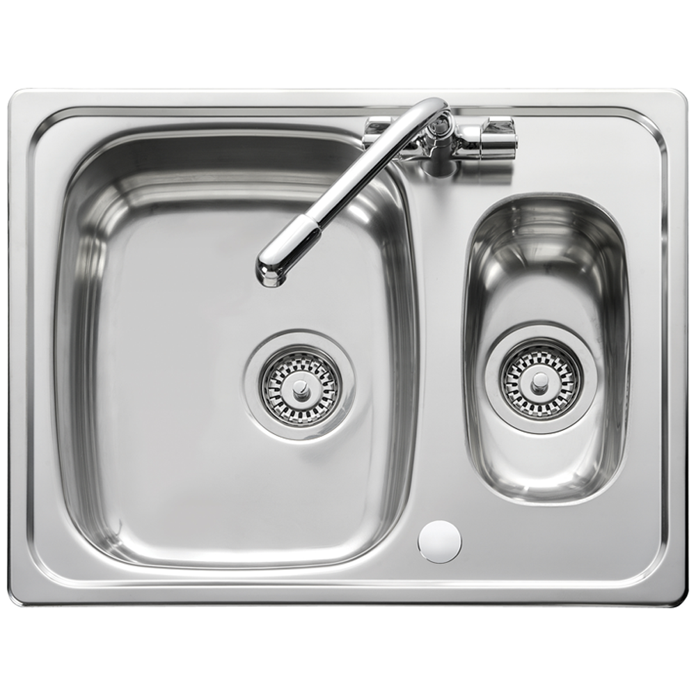 Leisure Euroline 1.5 Bowl Reversible Polished Stainless Steel ...