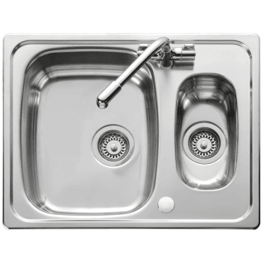 Leisure Sinks Leisure Euroline 1.5 Bowl Reversible Polished Stainless Steel Kitchen Sink