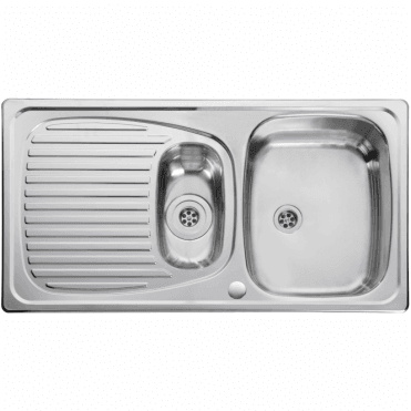 Leisure Sinks Leisure Euroline Compact 1.5 Bowl Reversible Polished Stainless Steel Kitchen Sink