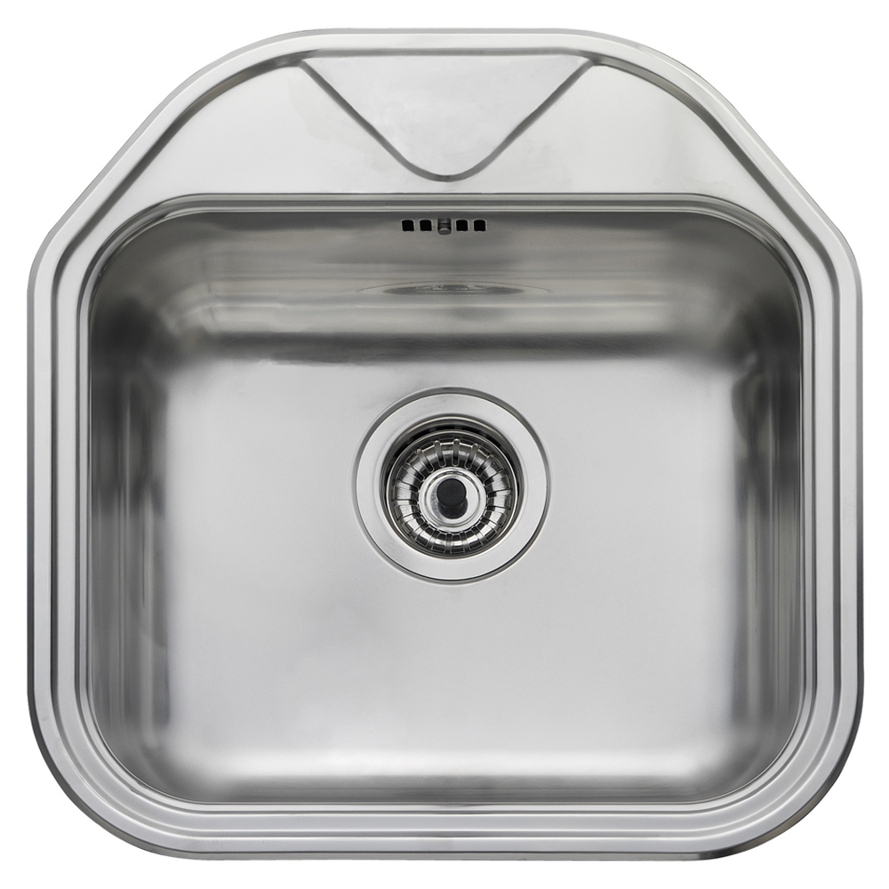 Kitchen sink top view png - Leisure Sinks Leisure Linear 1 0 Bowl Polished Stainless Steel Kitchen Sink Lr460