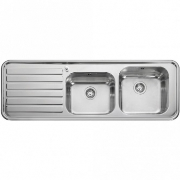 Leisure Sinks Leisure Luxe 2.0 Bowl Polished Stainless Steel Kitchen Sink & Waste LHD