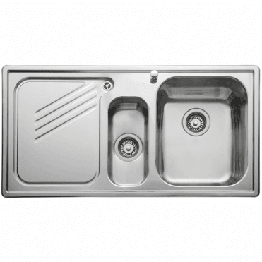 Leisure Sinks Leisure Proline 1.5 Bowl Polished Stainless Steel Kitchen Sink & Waste LHD