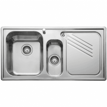 Leisure Sinks Leisure Proline 1.5 Bowl Polished Stainless Steel Kitchen Sink & Waste RHD