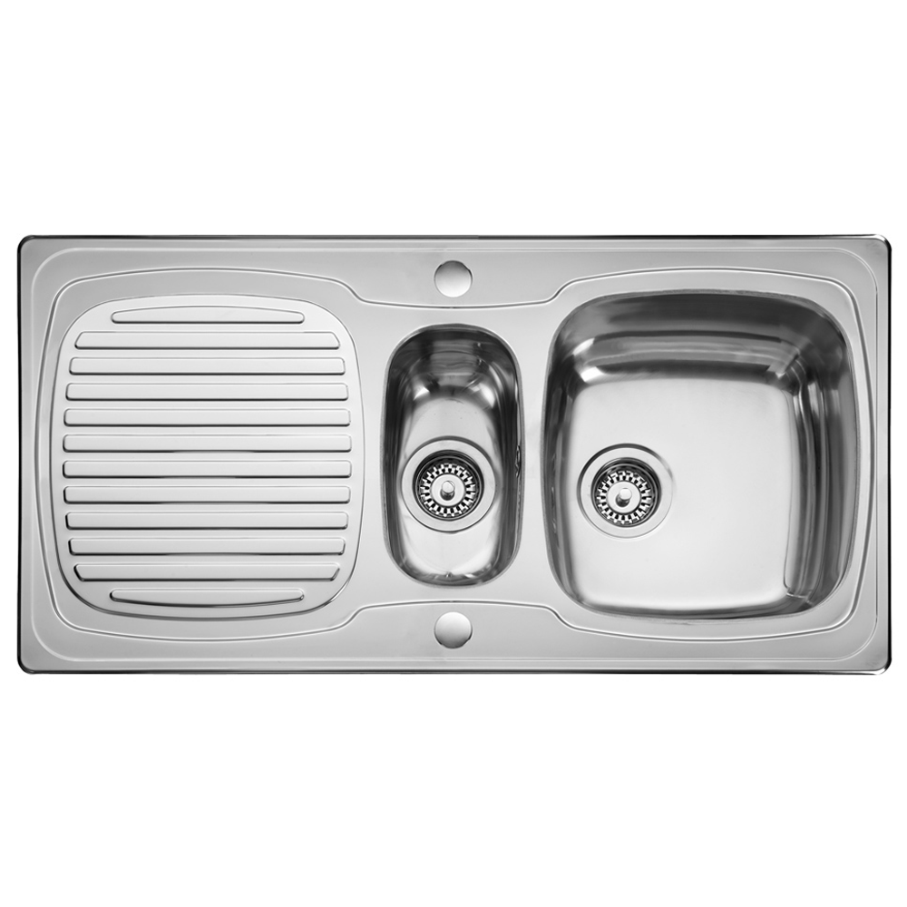 Kitchen sink top view png - Leisure Thinking Sink 15 Bowl Polished Stainless Steel Kitchen